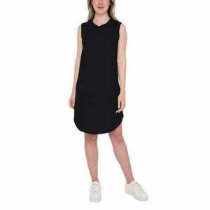 Bobeau Womens Dress Black Hooded Sleeveless